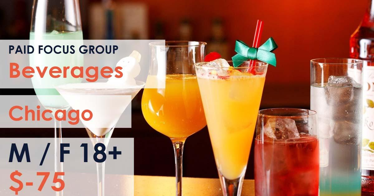 Focus group about Beverages- $75
