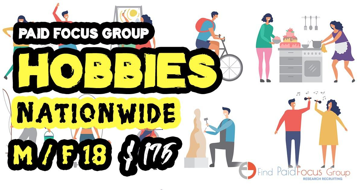 focus group on interests and hobbies