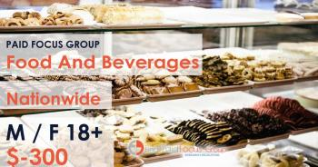 Focus group about Food and Beverages- $300