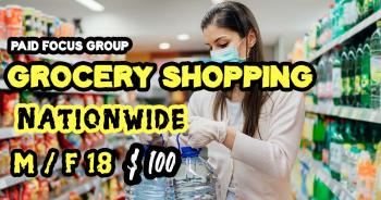 Online focus group about Grocery Shopping- $100