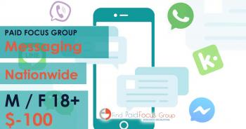 Online focus group about messaging- $100