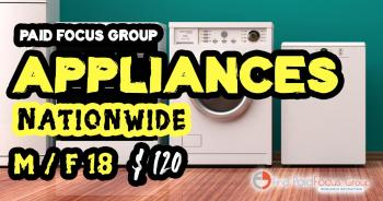 Online focus group on Appliances-$125