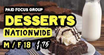 focus group on Desserts